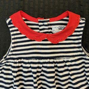 BabyGap | 🔥Navy & White Striped Romper